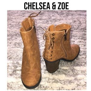CHELSEA & ZOE Lace Up Boots